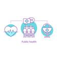 public health concept icon vector image vector image