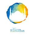 ramadan poster or flyer design template vector image