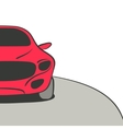 red car background vector image vector image