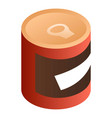 red tin can icon isometric style vector image