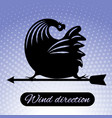 rooster weathervane rooster weathervane 5 vector image vector image