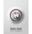 Safe lock realistic ibject eps 10 vector image