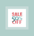 sale and discount poster vector image