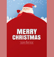 santa claus and a huge bag gifts with merry vector image vector image