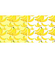 seamless background with yellow bananas vector image