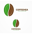Set of coffee beans label or logo designs vector image vector image