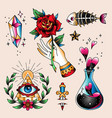 tattoo set spell vector image