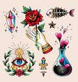 tattoo set spell vector image vector image
