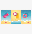 top view summer beach backgrounds vector image