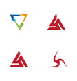 triangle icon design vector image vector image