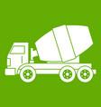 truck concrete mixer icon green vector image vector image