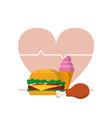 unhealthy food concept vector image