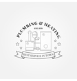 Vintage logos labels and badges Plumbing Heating vector image vector image