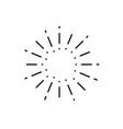 vintage sunburst light rays firework sparks vector image vector image