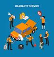 warranty service concept vector image vector image