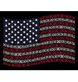 waving united states flag stylization of crossing vector image