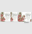 wedding invite invitation menu card floral vector image vector image