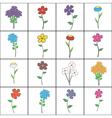 Squared Floral Set vector image