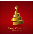 3d christmas card background vector image vector image