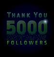 5000 followers pixels dark vector image vector image