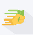 a hand with money or dollar vector image
