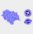 airlines composition himachal pradesh state vector image vector image