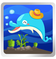 an isolated dolphin underwater vector image vector image