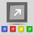 Arrow Expand Full screen Scale icon sign on the vector image