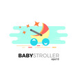 baby stroller vector image vector image
