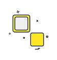 blocks icon design vector image vector image
