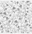 botanical seamless pattern with clover on white vector image vector image