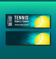 bright voucher for tennis annual tournament vector image vector image