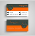business card with three colored design stripes vector image