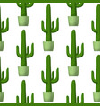 cactus - floral seamless pattern vector image vector image