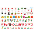 cartoon christmas collection xmas hats and new vector image vector image
