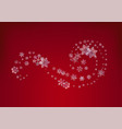 christmas background crystal snowflakes vector image
