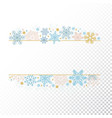 christmas snow flake frame transparent background vector image vector image