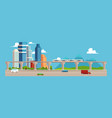 cityscape with buildings and skyscrapers metro vector image vector image