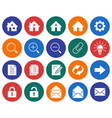 collection of round icons user interface set 1 vector image vector image