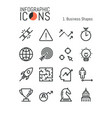 collection of thin line business icons growth vector image