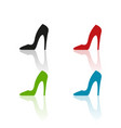 colour heels icons vector image vector image