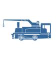 Crane tank Steam locomotive vector image vector image