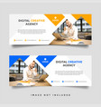creative business facebook cover template vector image vector image