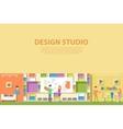 Creative graphic studio design interior vector image vector image