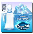 crystal freshness fabric softener poster vector image vector image