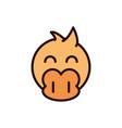 cute face duck animal cartoon icon vector image vector image