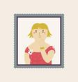 cute interpretation jeanne samary portrait vector image