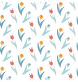 cute pattern in small wildflowers and tulips vector image vector image