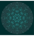 decorative design element with a circular vector image vector image