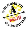 Delhi stamp rubber grunge vector image